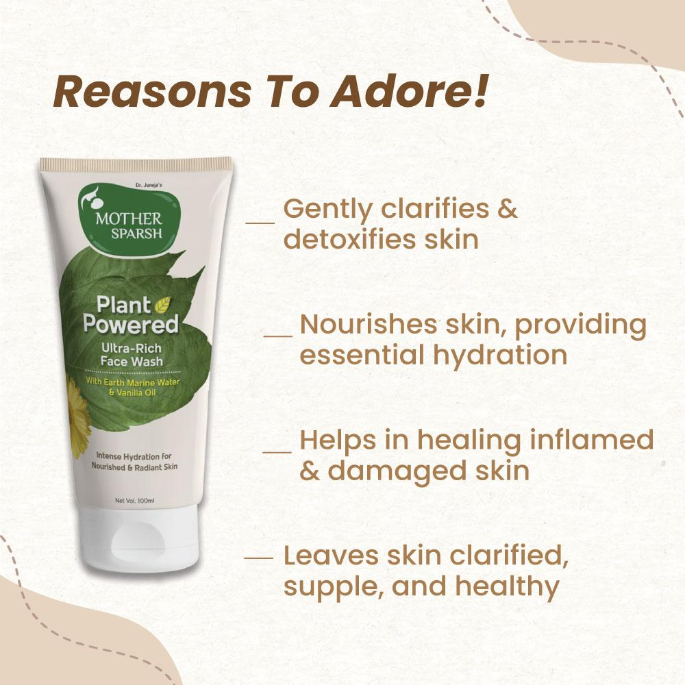 Mother Sparsh Plant powered Face Wash - Best Organic Facewash India