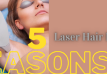 woman lying down and going through laser hair removal process - illustrator