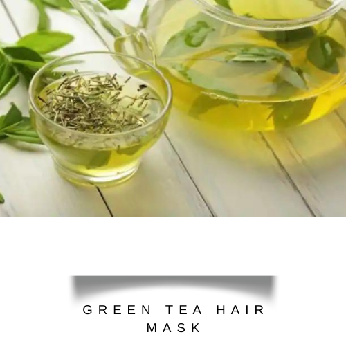 green tea soaked in a transparent cup | hair fall treatment at home